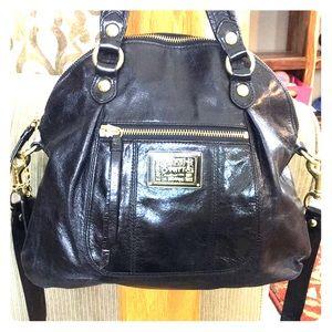 💕 Coach poppy black leather medium satchel cute💕